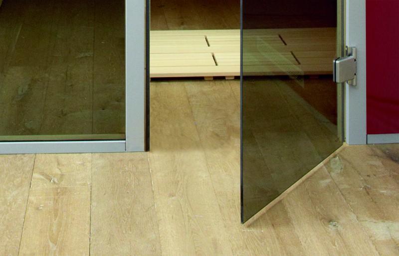 WEKA heimsauna Wellnissage Designsauna II Fenster Rechts Roso - rot