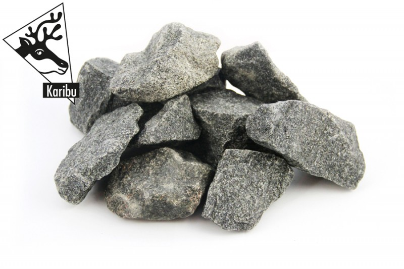 Karibu 38 mm Saunahaus Gartensauna Toulouse Ofen inkl Steuergerät easy finnisch und 18 KG Steinen naturbelassen