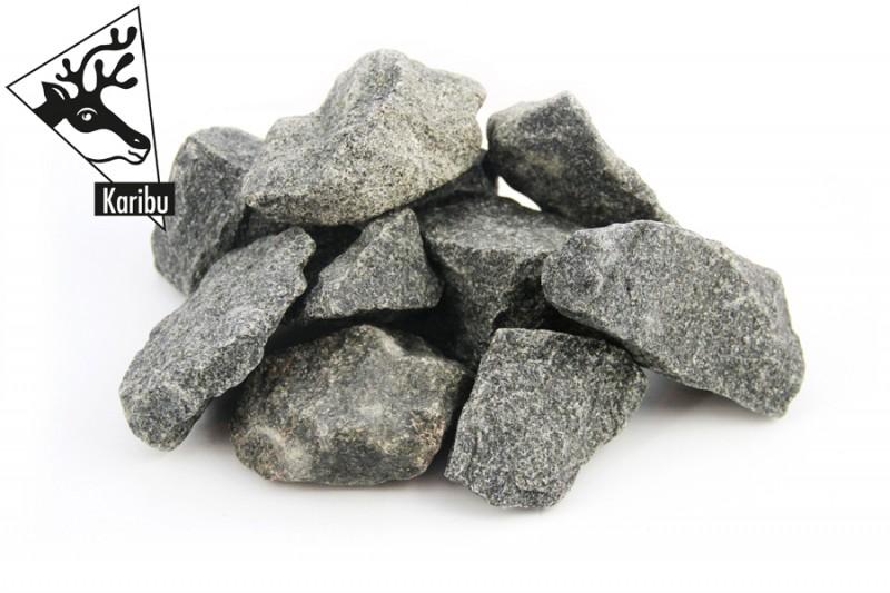 Karibu 38 mm Saunahaus Gartensauna Toulouse Ofen inkl Steuergerät easy Bio und 18 KG Steinen terragrau