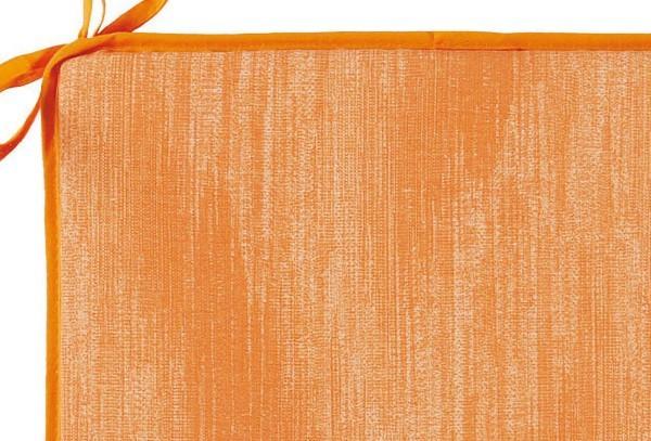Best Sitzkissen mit Schlaufen 40 x 40 x 3cm Dessin Nr.: 1478 Farbe: orange