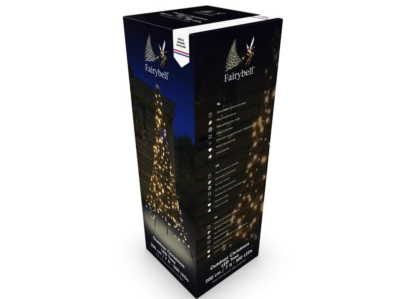 Fairybell LED Weihnachtsbaum außen - christmas tree - Maße 200 x 140 cm - 300 LED-Lampen: warmweiß