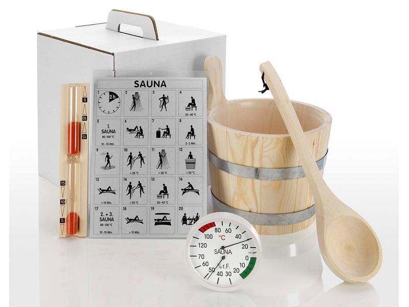 """Sauna Zubehör Sauna-Zubehör-Set """"Standard""""  5-teilig"""