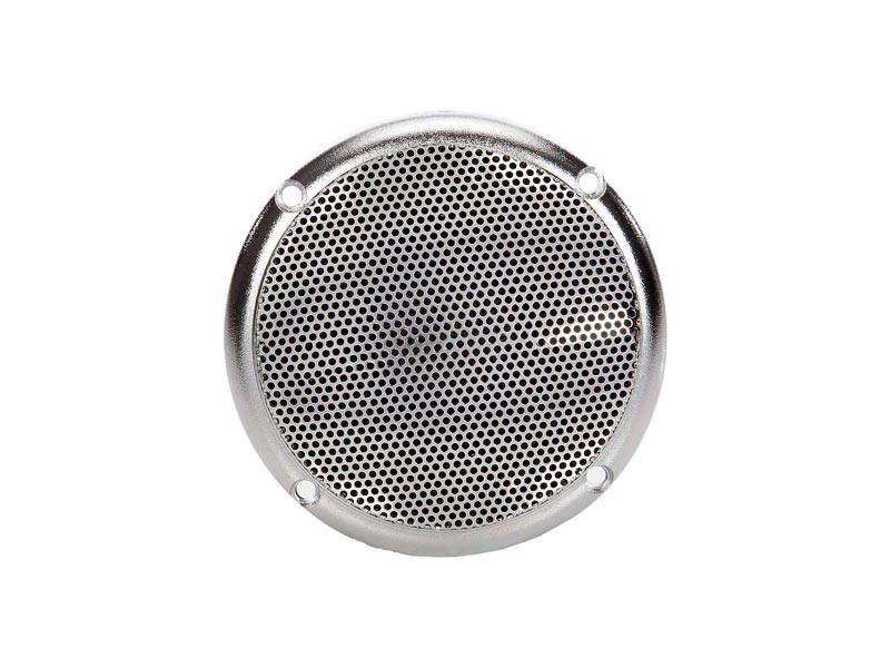 Sauna Zubehör Lautsprecher bis 120 °C , silber Ø 90 mm