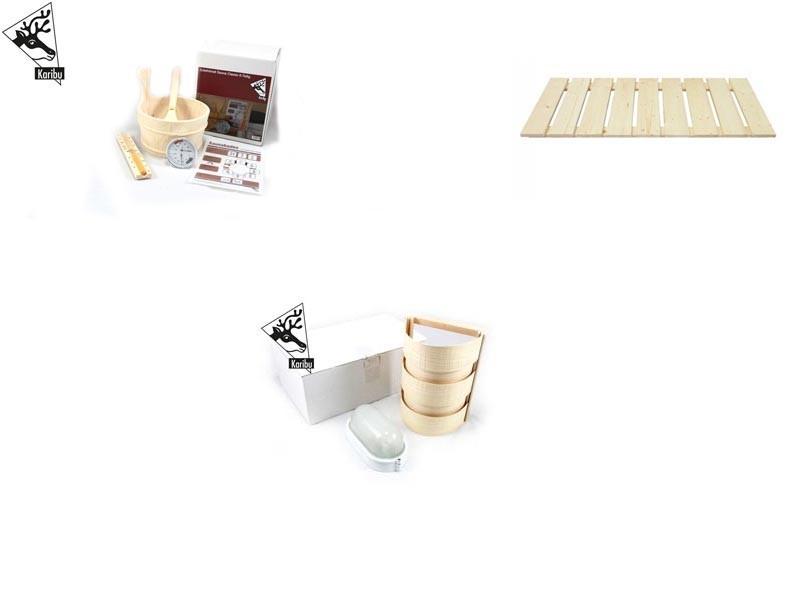 Karibu Rundum Sorglos Set für Sauna mit 230 Volt (Plug&Play)