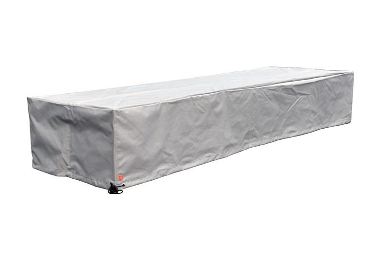 Schutzhülle für Sonnenbank / Tisch / Gartenliege 69 x 142 x 41 cm (BxLxH) Farbe: grau