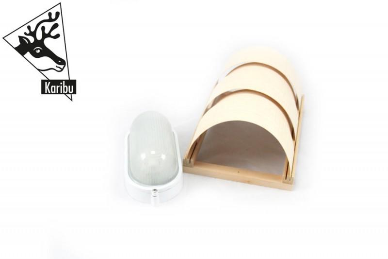 Karibu Leuchte CLASSIC 400 Volt - inkl. Silikon-Anschluss Kabel C für 400 Volt (Starkstrom)