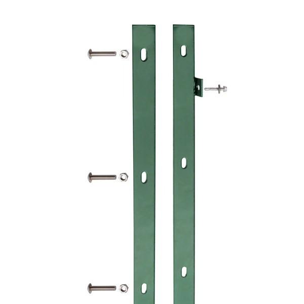 Doppelstabgitterzaun VARIO trend Zaun-Anschlussleiste 6005 - Länge: 1630 mm