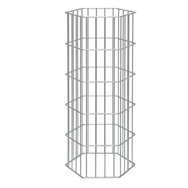 Gabionen-Zaunsystem AOS ONYX - Zink - Höhe: 1000 mm