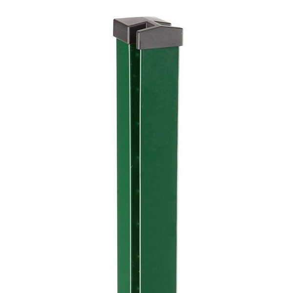 Zaunpfosten Doppelstabgitterzaun Typ HP-MA  RAL 6005 moosgrün Länge: 2600 mm