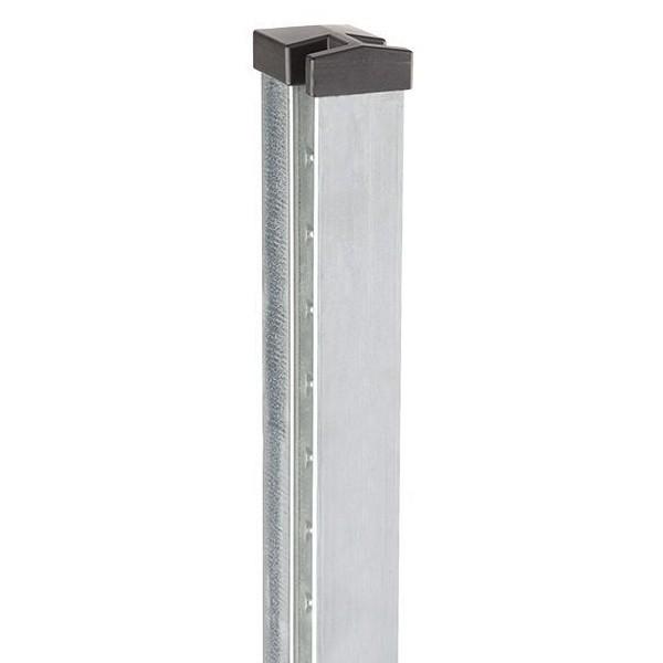 Doppelstabgitterzaun Zaunpfosten Typ HP-MA 70x40x2 Feuerverzinkt - Länge: 3000 mm