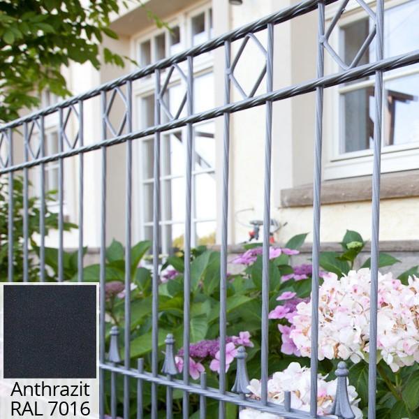 Schmuckzaun Gartenzaun Paris RAL 7016 - Höhe: 1000 mm