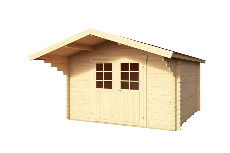 Lasita Maja Gartenhaus Blockbohlenhaus  Aktion 6 - 28 mm  - Sockelmaß: 300×300 cm