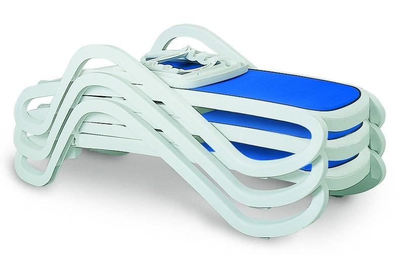 Best Stapelliege Bäderliege Alfa weiß/blau