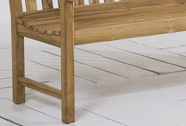 Best Teak-Bank Moretti 120cm, Farbe: grey wash