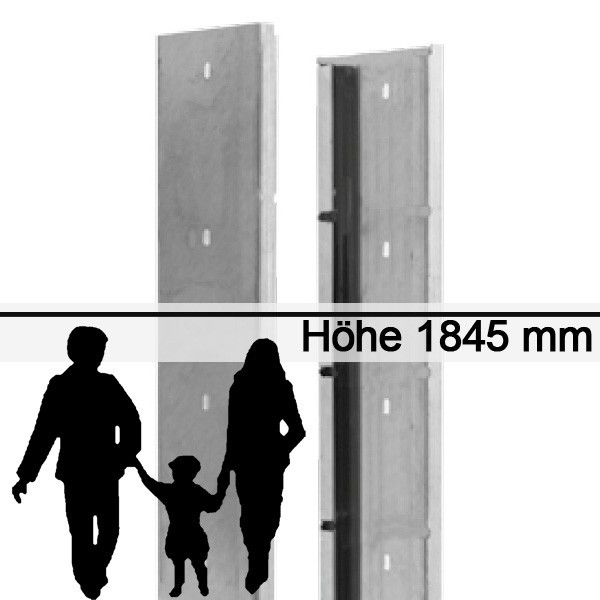 Gabionen-Zaunsystem SAPHIR - Zink - Höhe: 1845mm