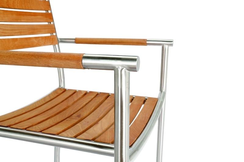 Best Freizeitmöbel Edelstahl Tischgruppe Murano 13-teilig inkl. Zierkissen