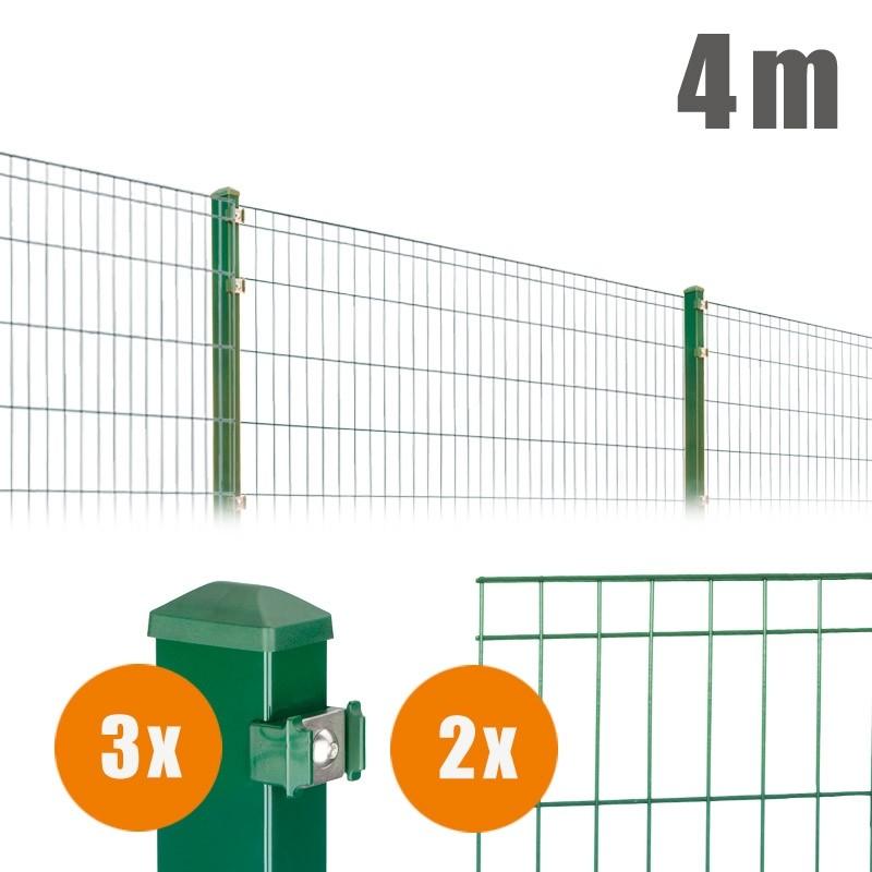 AOS Matte Michl Komplett-Zaun MICHL Länge 4m x Höhe 1,2 m moosgrün