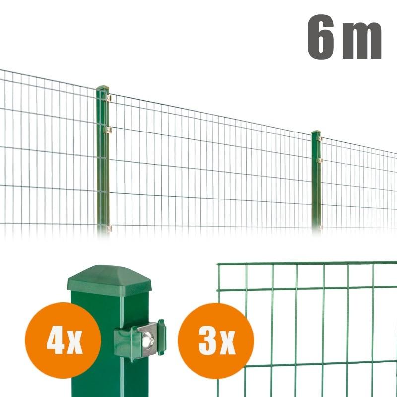 AOS Matte Michl Komplett-Zaun MICHL Länge 6m x Höhe 1,2 m moosgrün