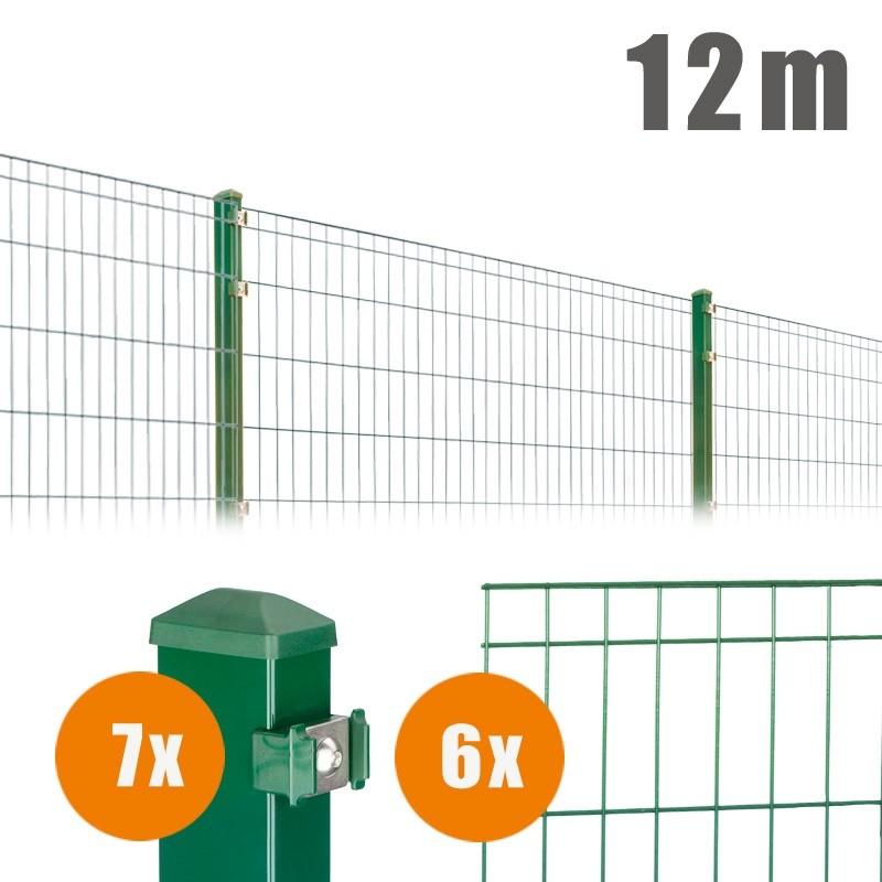 AOS Matte Michl Komplett-Zaun MICHL Länge 12m x Höhe 1,2 m moosgrün