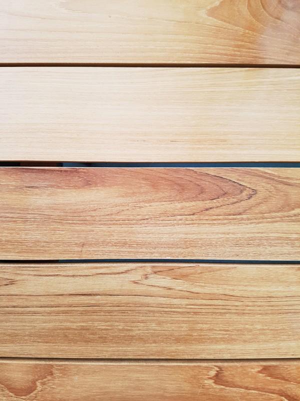 Best Gartentisch Paros - Dining-Teakholz Tisch - rechteckig - Aluminium/Teakholz - weiß/Teakholz - 210 x 90 x 76 cm