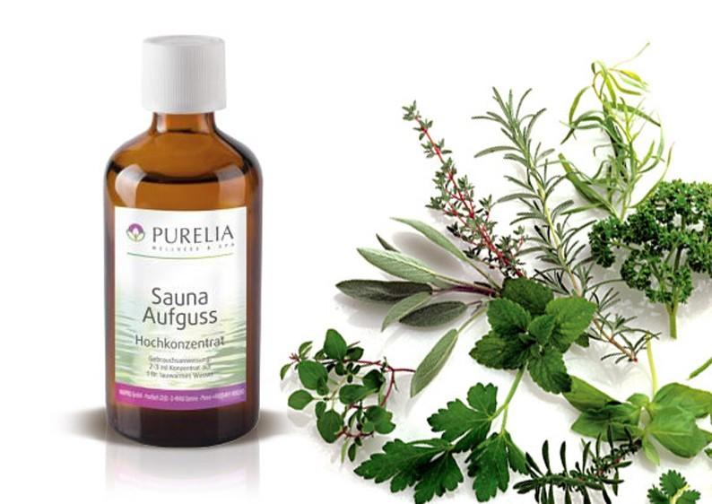 Purelia Saunaaufguss Duft 50 ml 7-Kräuter - Saunaduft