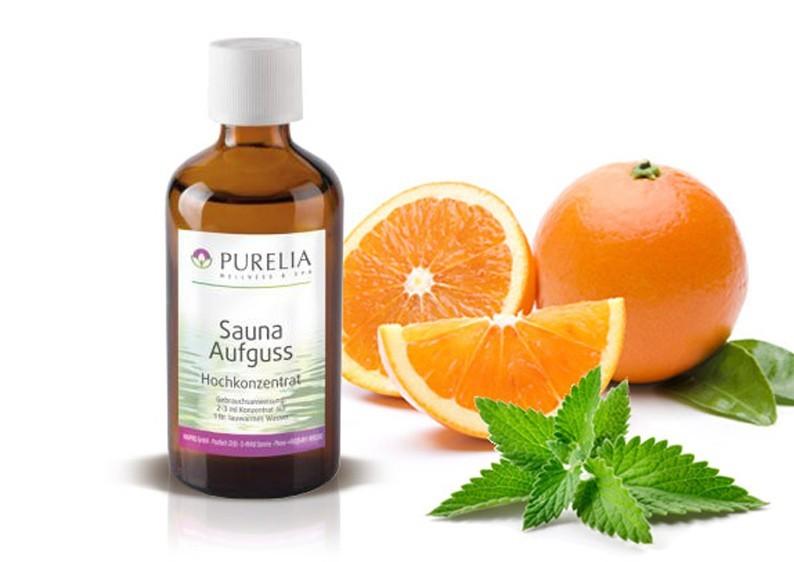 Purelia Saunaaufguss Duft 50 ml Minze-Orange - Saunaduft