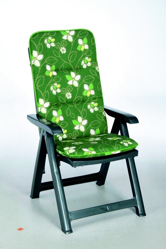 Best Klappsessel Santiago grün + Polsterauflage