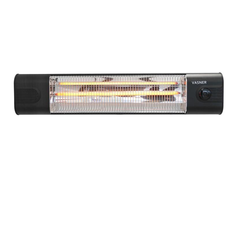VASNER Infrarot Heizstrahler Teras 25 - Terrassenstrahler - Infrarotstrahler - Fernbedienung - 2500 Watt - Farbe: schwarz