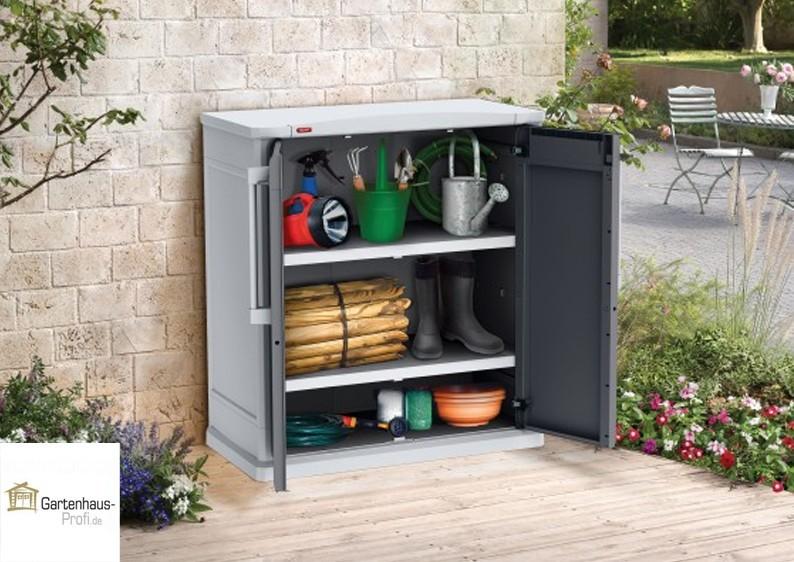 Tepro Kunststoff Aufbewahrungsschrank Optima Base Cabinet - hellgrau-grau
