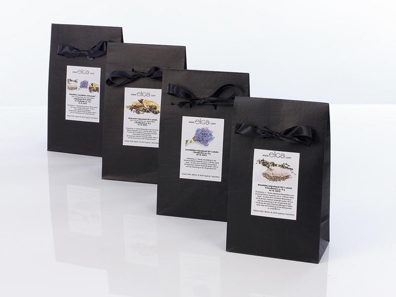 Sauna Zubehör Aufgussbeutel - gemischt  je 3 Beutel Birkenblätter, Lavendelblüten und Winterzauber Beutel à ca. 10 g