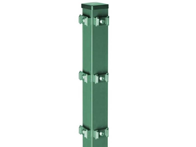 AOS Pfosten Typ QPME 1300 - 6005 Länge 4m x Höhe 0,8 m moosgrün
