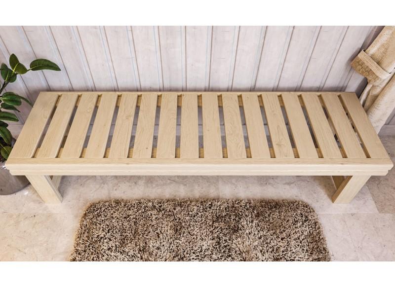 Karibu Sauna Ruhebank aus Espenholz (181x43x55 cm)
