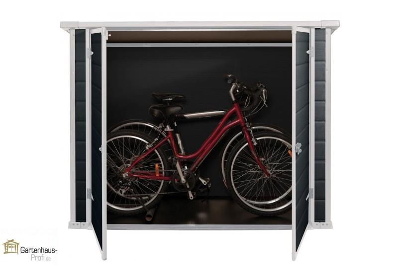 Tepro Kunststoff Aufbewahrungsschrank Bike & More - anthrazit-weiß