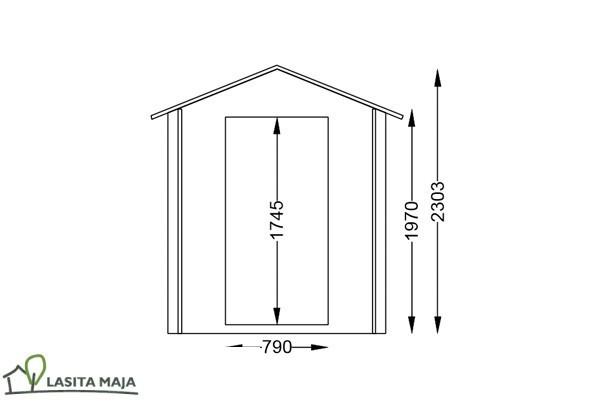 Lasita Maja Gartenhaus Blockbohlenhaus Satteldach Jesse172 inkl. Dachpappe