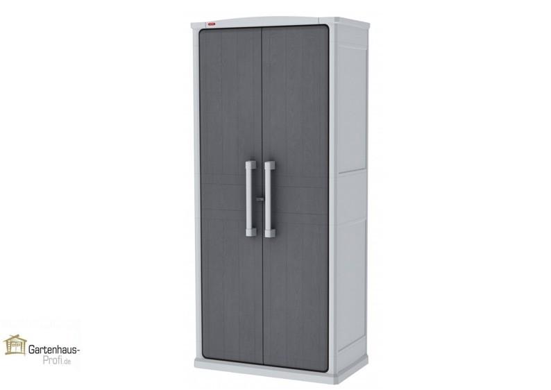Tepro Kunststoff Aufbewahrungsschrank Optima Wonder Cabinet -Tall -  hellgrau-grau