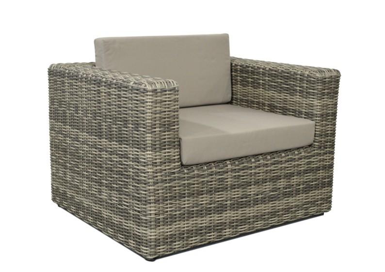 rattan lounge sessel grau, rattan loungeelement turino sessel - farbe: grau-braun meliert, Design ideen