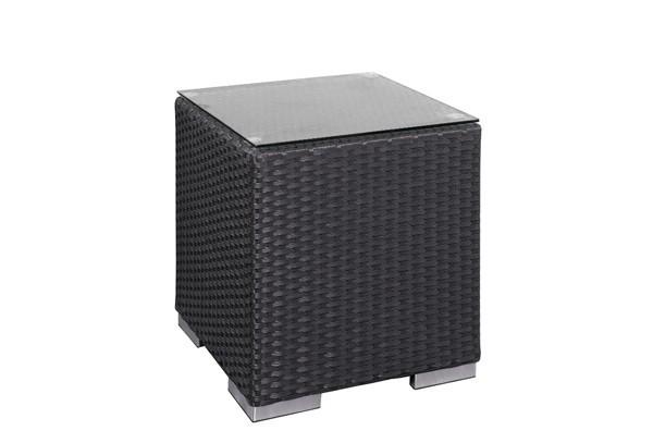 Rattan XXL Loungemöbel Einzelelement Espace Luxus Beistelltisch - Farbe: Dunkelbraun