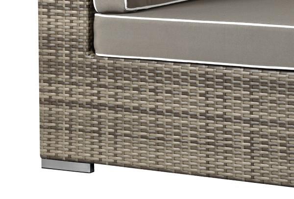 Rattan XXL Loungemöbel Set Espace 8 - 6-teilig - Farbe: grau braun meliert