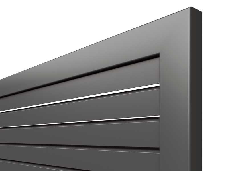 TraumGarten Sichtschutzzaun Metall Design Rhombus Rechteck anthrazit - 180 x 180 cm