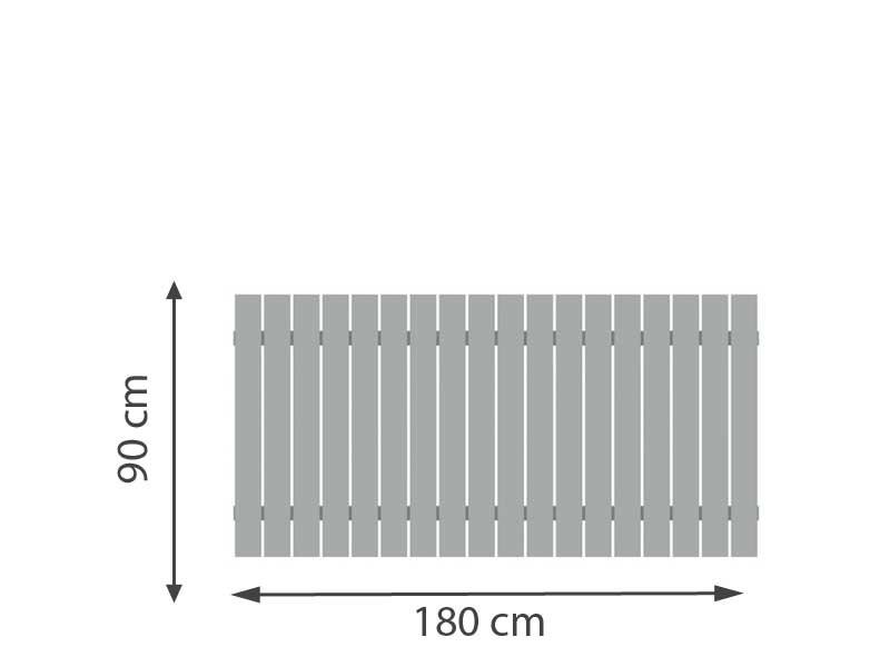 TraumGarten Vorgartenzaun Squadra Rechteck lichtgrau - 180 x 90cm