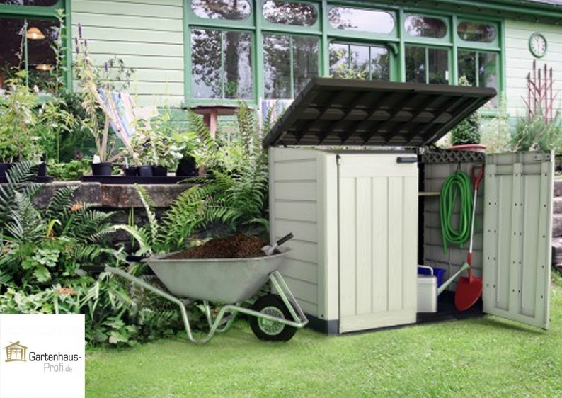 Tepro Kunststoff Aufbewahrungsbox -schrank Store It Out MAX - beige-braun