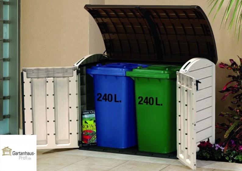 Tepro Kunststoff Aufbewahrungsbox -schrank Store It Out Ultra - beige-braun