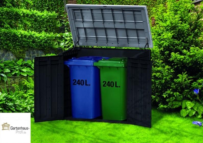 Tepro Kunststoff Aufbewahrungsbox -schrank Store It Out MAX - anthrazit-grau