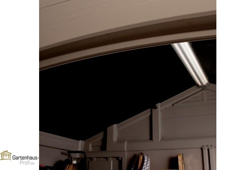 Tepro Kunststoff-Gerätehaus Gartenhaus Factor 8x8 - taupe-beige