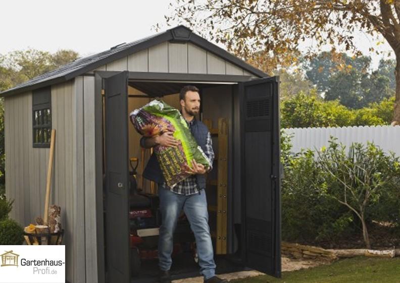Tepro Kunststoff-Gerätehaus Gartenhaus Oakland 759 - braun-grau