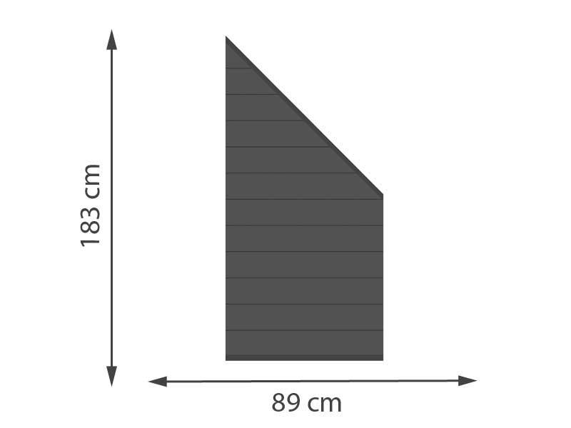 TraumGarten Sichtschutzzaun System ALU Anschluss Set anthrazit / anthrazit - 89 x 183 auf 93 cm
