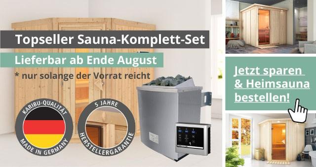 Topseller Sauna-Komplett-Set