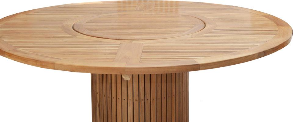 Ploss Gartenmöbel Tisch rund Phoenix Premium Teak 160 x 76 cm