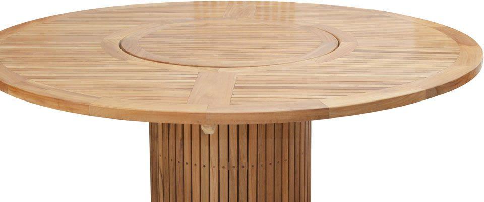 Ploss Gartenmobel Tisch Rund Phoenix Premium Teak 160 X 76 Cm