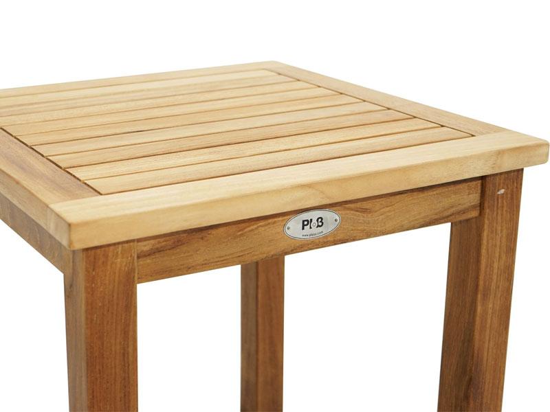 Ploss Gartenmöbel Beistelltisch Aus Premium Teak 50 X 50 X 50 Cm Eckig